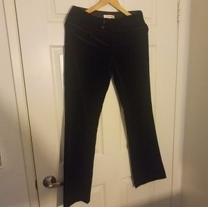 Banana Republic 4 The Sloan Fit Velvet Black Pants